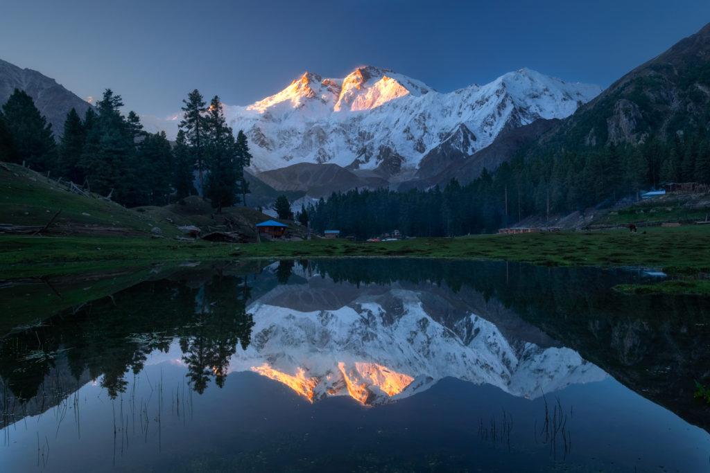 sunrise at fairy meadows nanga parbat reflection