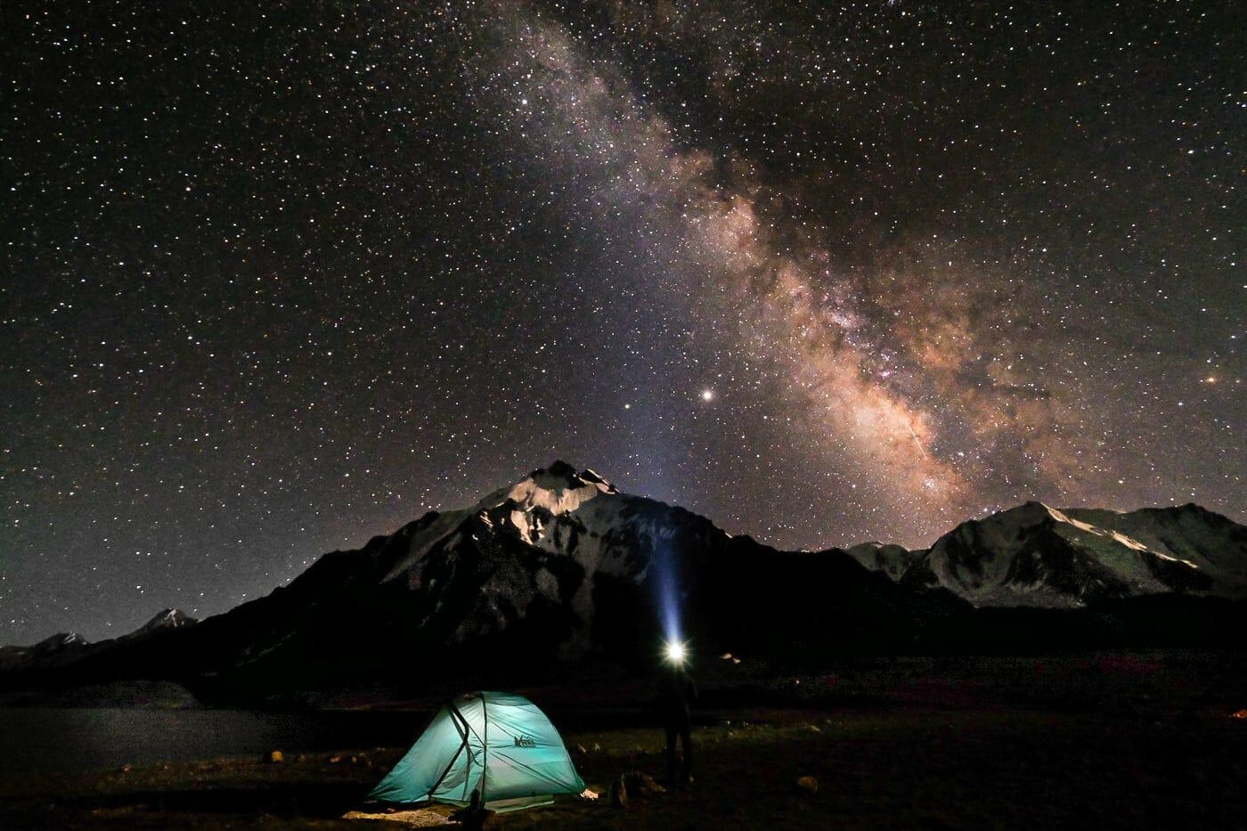 stars at Karomber Lake Pakistan