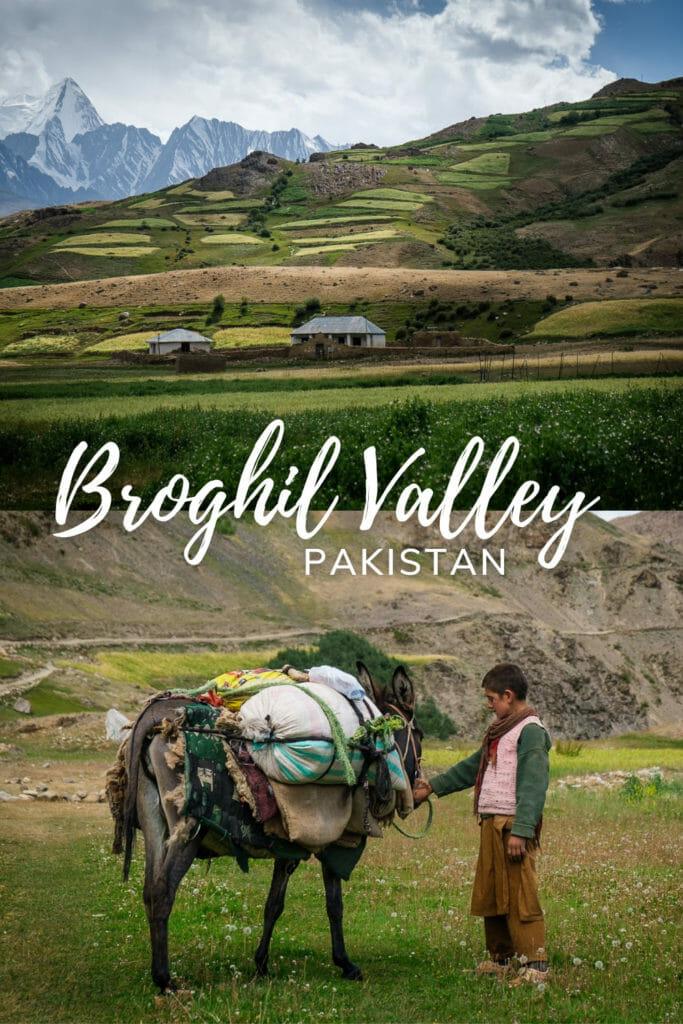 Brohil Valley and the Karambar Lake Trek viewed as a drone Pakistan