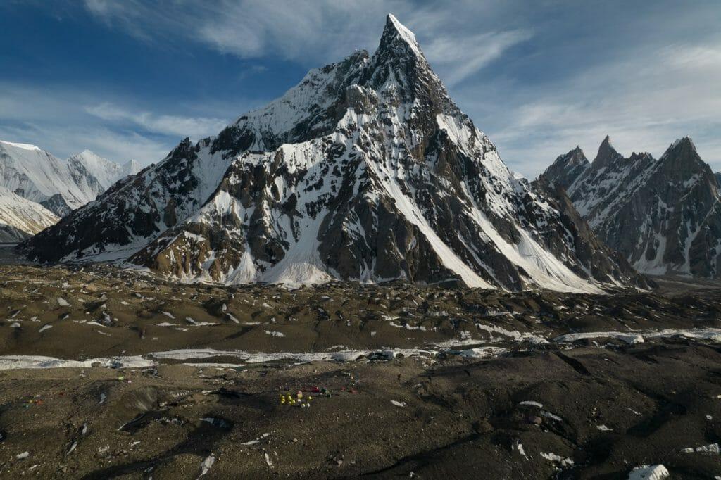 drone photo of mitre peak