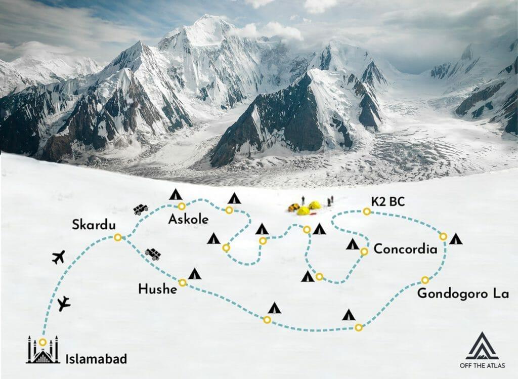 k2 base camp map
