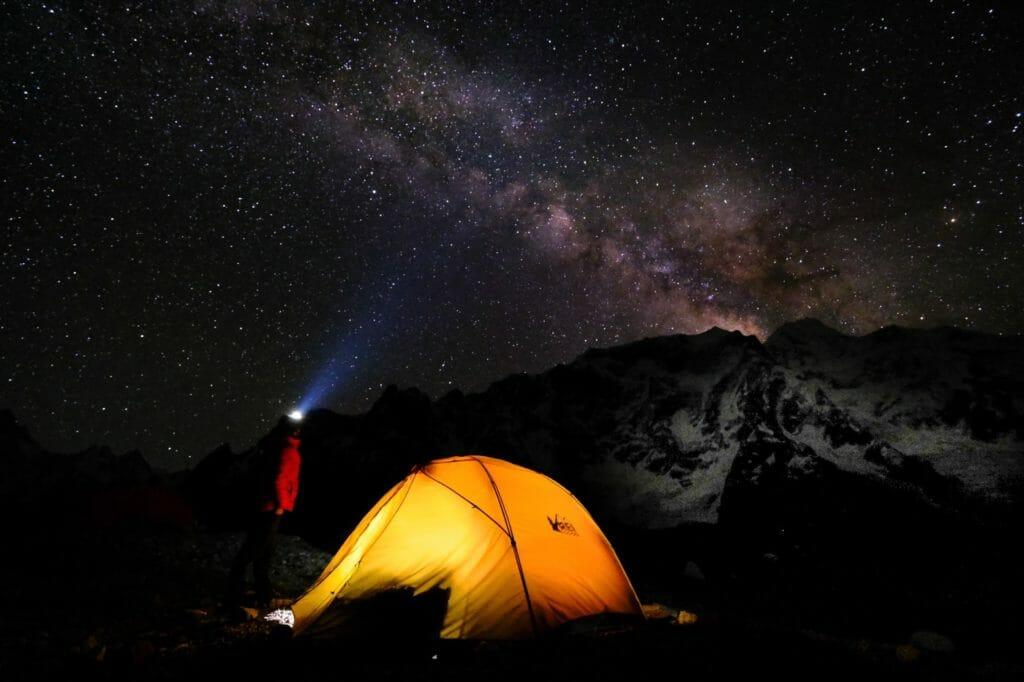 stars on k2 base camp trek
