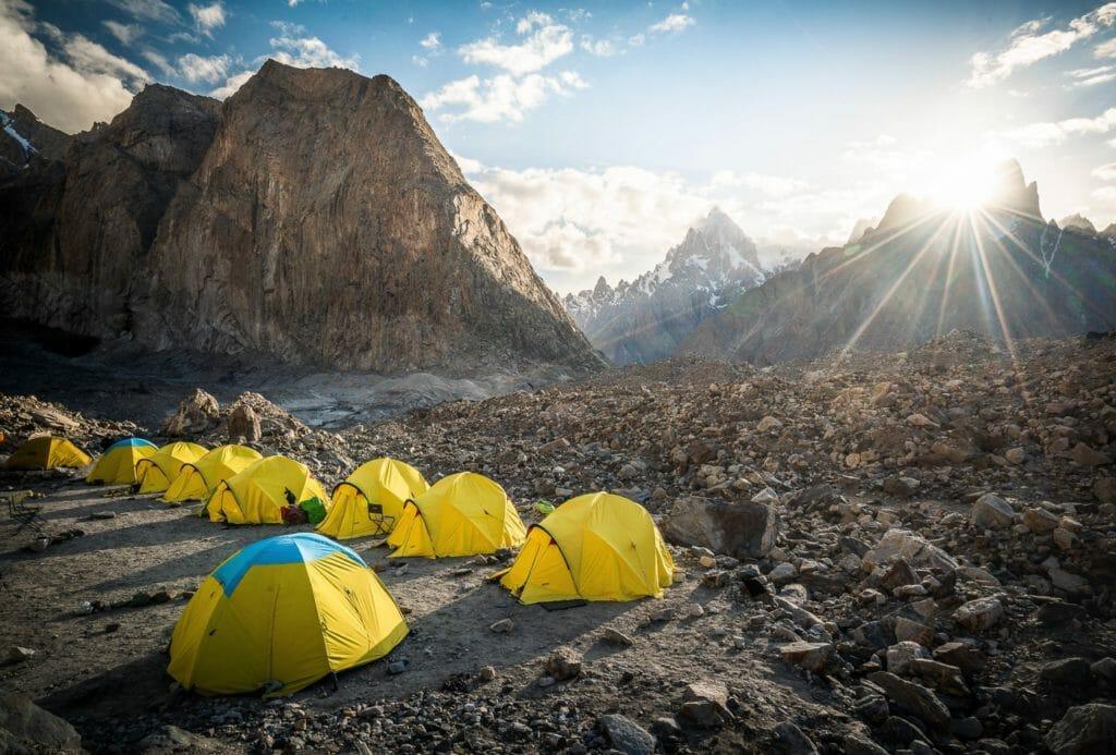 camping at k2 basecamp