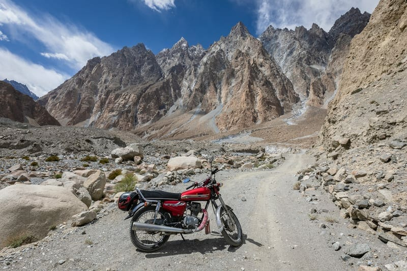motorcycle rentals in Pakistan